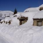 Zemiakové pivničky v zime
